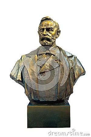 Alfred Bernhard Nobel bronze statue
