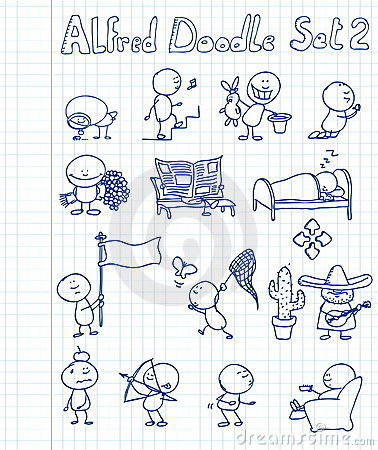 Free Alfred Doodle Set 2 Stock Photos - 13548583