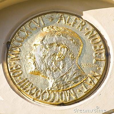 Free Alfred Nobel Medallion Stock Images - 11441404