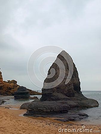 Free Algarve Eery Beach I Royalty Free Stock Photography - 3469997
