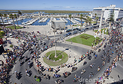 Algarve International Motorcicle Rally Editorial Stock Image