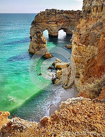 Free Algarve Portugal, Coast Beach Royalty Free Stock Photography - 108302767