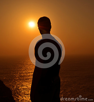 Algarve sunset silhouette