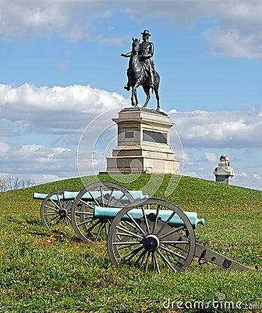 Algemeen Hancock in Gettysburg