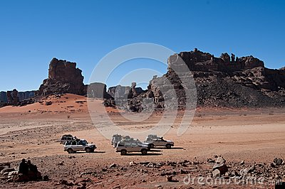 Algeria Sahara mountains landscape