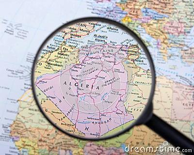 Algeria under magnifier