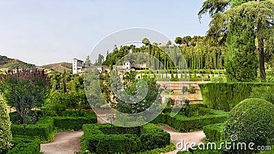 Alhambra castle gardens