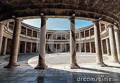 Alhambra De Granada. Court Of The Carlos V Palace Stock Photo - Image: 41216548