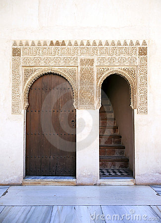 Alhambra door and stairs