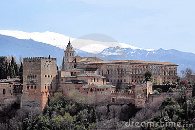 The Alhambra in Granada, Andalusië, Spain.