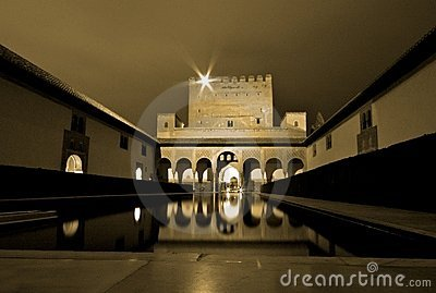 Alhambra at night, Andalusia, Spain