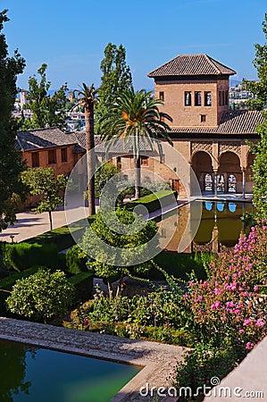 Free Alhambra Palace At Granada Spain Royalty Free Stock Photos - 25087228