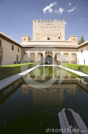 Alhambra palace, Spain Editorial Stock Photo