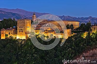 Alhambra after sunset