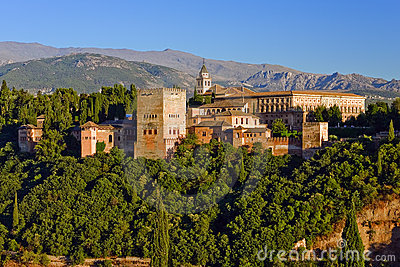 Alhambra at sunset, Granada