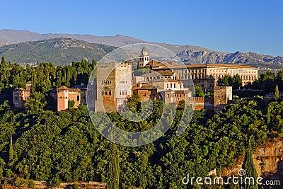 Alhambra at sunset, Granada