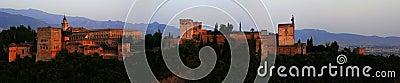 Alhambra sunset panorama