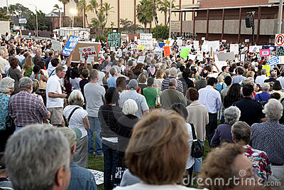 Alhambra Town Hall on Healthcare Reform Editorial Photo