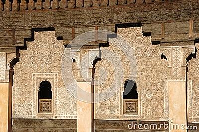 Ali Ben Youssef Madrassa in Marrakech, Morocco.