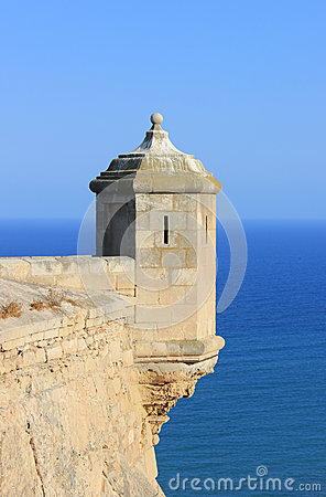 Alicante castle turret