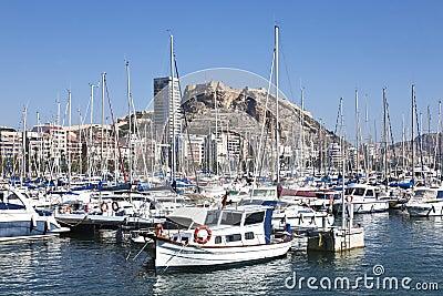 Alicante city view