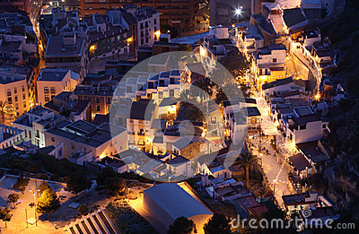 Alicante at night, Spain