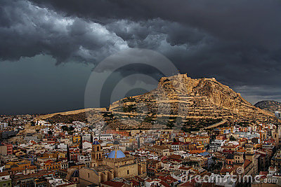 Alicante before storm