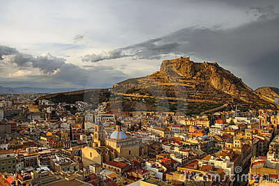 Alicante at sunset