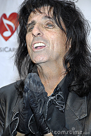 Alice Cooper on the red carpet. Editorial Photo