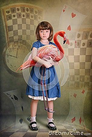 Alice e fenicottero
