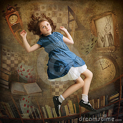 Free Alice Falling Down Stock Photo - 22803780