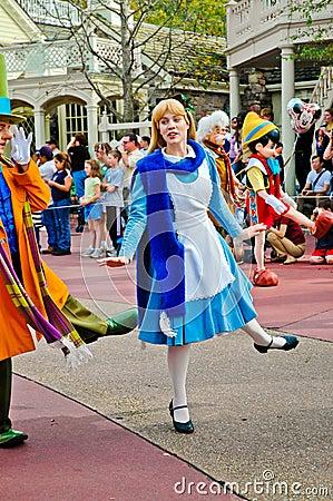 Alice in Wonderland, Disney Holiday parade.