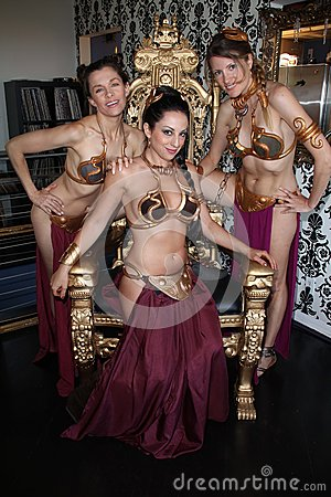 Alicia Arden, Laura Renee James, Jill Franklin at the LeiasMetalBikini.com 10th Anniversary Celebration at Gentle Giant Studios, B Editorial Photography