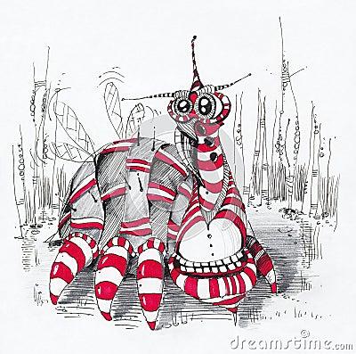 Alien чертеж характера