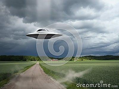 Alien aircraft UFO landing