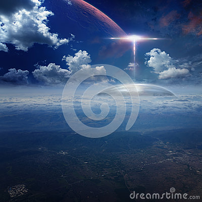 Free Alien Base On Planet Earth Royalty Free Stock Photo - 72139335
