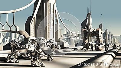Alien Battle Droids and Space Marines