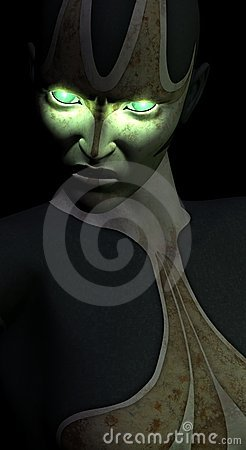 Alien bio mechanical green