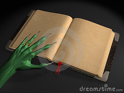 the alien with book