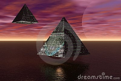 Alien cities flying