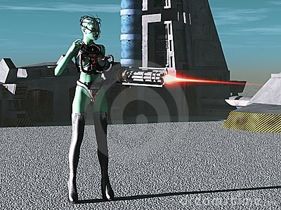 Alien female cyborg