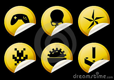 Alien game play yellow icons