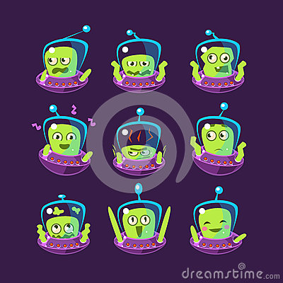 Free Alien In Ufo Emoji Set Royalty Free Stock Photo - 72980165