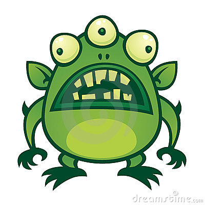 Free Alien Monster Royalty Free Stock Image - 18259186