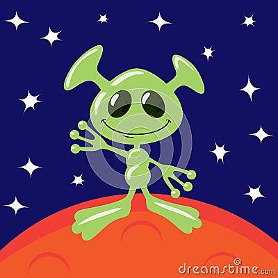 Free Alien On Mars Stock Photo - 26811470