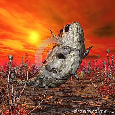 Alien Planet with Alien Creature