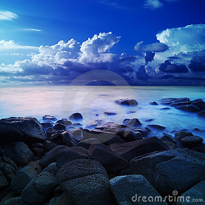 Alien sea at dawn