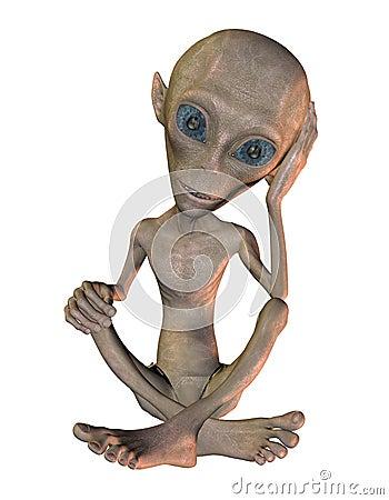 Alien sitting