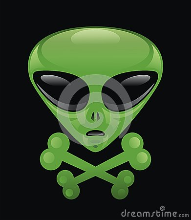 Alien Skull & Crossbones .