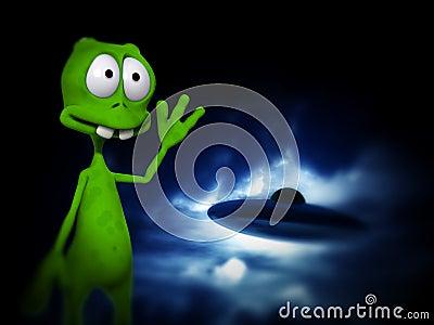 Alien With UFO